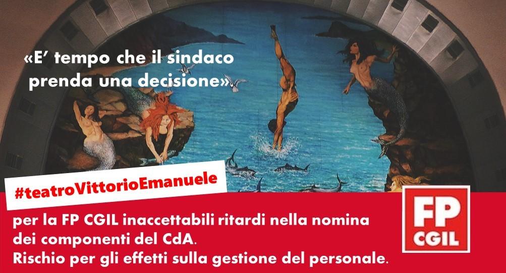 Teatro Vittorio Emanuele, per la FP CGIL inaccettabili ritardi nella nomina dei componenti del CdA: «E' tempo che il sindaco prenda una decisione». Rischio per gli effetti sulla gestione del personale.