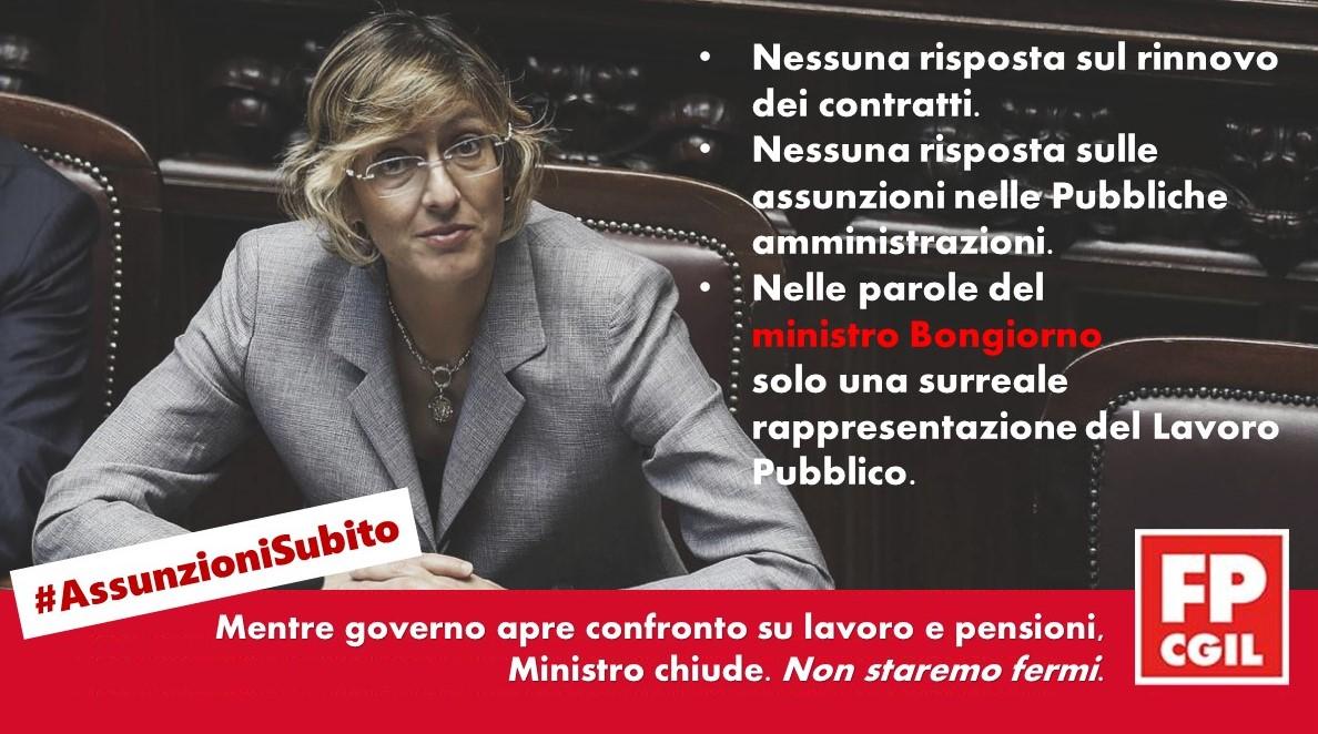 Pa: Cgil Cisl Uil, da Ministro Bongiorno surreale rappresentazione della realtà e nessuna risposta su contratti e assunzioni