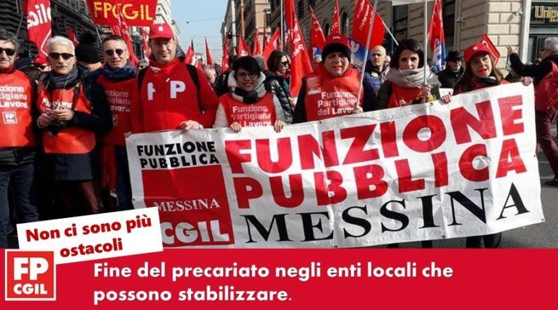 Ok del Consiglio dei Ministri alla stabilizzazione dei precari siciliani. Fp Cgil: non ci sono più alibi per nessuno, ora si proceda