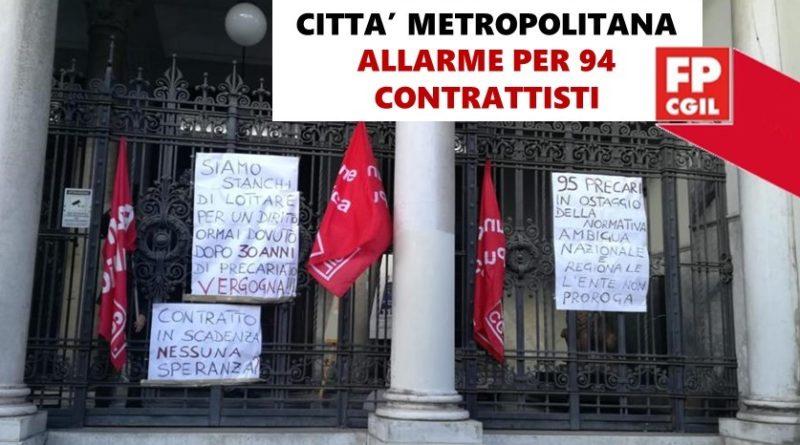 Città Metropolitana, FP CGIL e CSA lanciano un grido d'allarme. A 10 giorni dalla scadenza di 94 contratti di lavoro la delegazione di parte pubblica ha comunicato che ad oggi non è stata presa alcuna decisione in merito.
