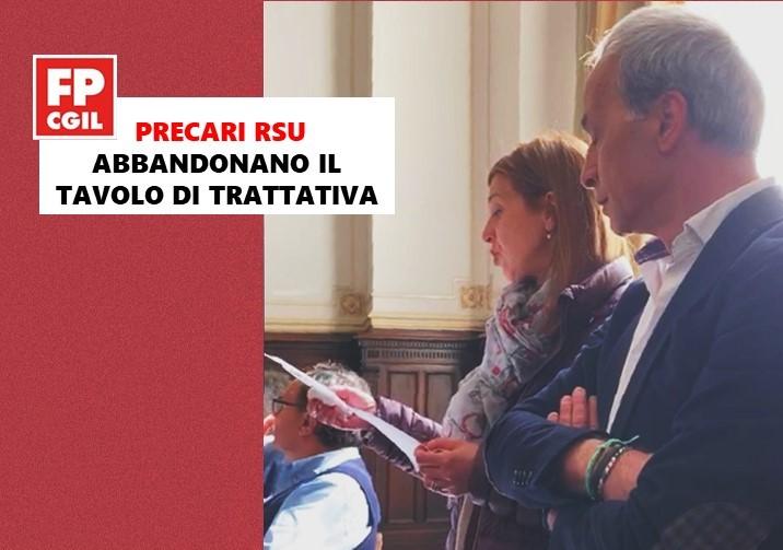 Città Metropolitana, i componenti precari della RSU (FPCGIL e CSA) abbandonano il tavolo delle trattative su P.O. (VIDEO)