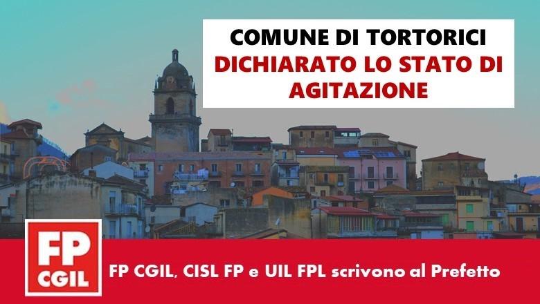 Comune di Tortorici, FP CGIL, CISL FP e UIL FPL dichiarano lo stato di agitazione e scrivono al Prefetto