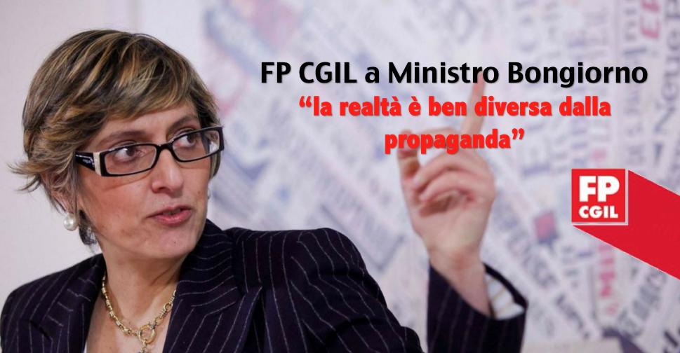 Pa: Cgil-Fp a Bongiorno, realtà è ben diversa da propaganda