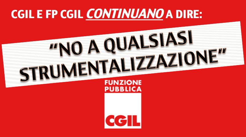 Città Metropolitana, CGIL e FP CGIL continuano a dire no a qualsiasi strumentalizzazione.
