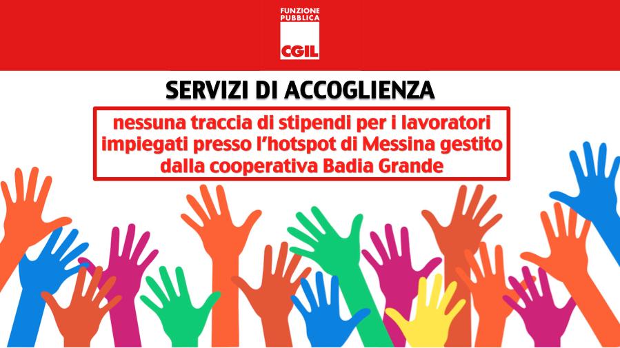 Servizi di accoglienza, nessuna traccia di stipendi per i lavoratori impiegati presso l'hotspot di Messina gestito dalla cooperativa Badia Grande