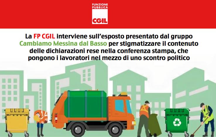 Messina Servizi Bene Comune, FP CGIL: «Inaccettabile come la colpa venga sempre fatta ricadere sui lavoratori»