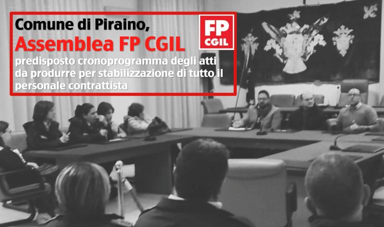 Comune di Piraino, Assemblea FP CGIL per stabilizzare il personale contrattista