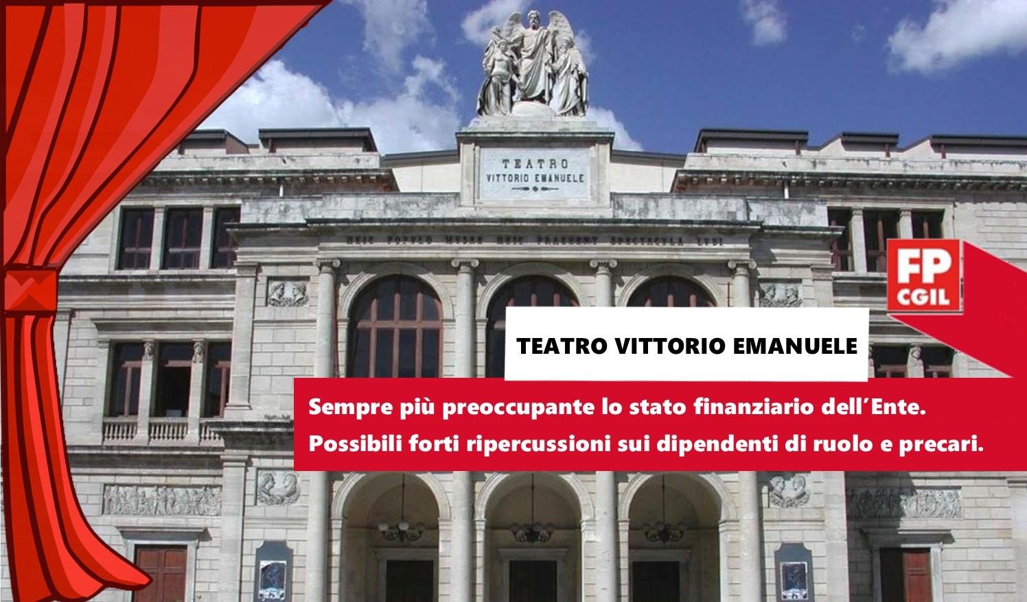 Teatro Vittorio Emanuele, sempre più preoccupante lo stato finanziario dell'Ente. Possibili forti ripercussioni sui dipendenti di ruolo e precari.