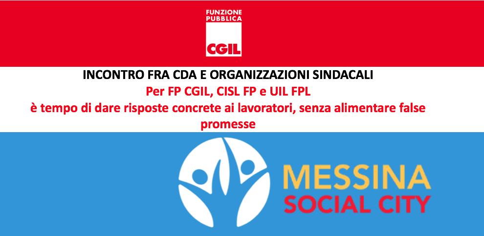Messina Social City, incontro fra CdA e organizzazioni sindacali. Per FP CGIL, CISL FP e UIL FPL è tempo di dare risposte concrete ai lavoratori, senza alimentare false promesse