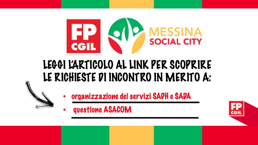 Messina Social City, richieste di confronto per organizzazione di servizi SADA e SADH e per questione ASACOM