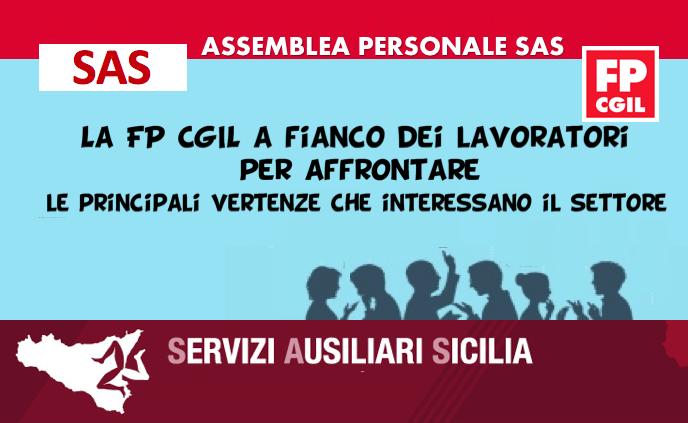Assemblea personale SAS, la FP CGIL a fianco dei lavoratori per affrontare le principali vertenze che interessano il settore