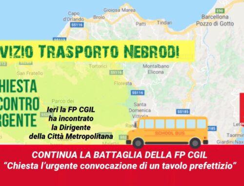 Continua la battaglia della FP CGIL per la ripresa del servizio trasporto Nebrodi: «Chiesta l'urgente convocazione di un tavolo prefettizio»