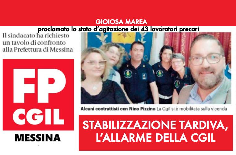 """Comune di Gioiosa Marea: dichiarazione di stato di agitazione del personale a tempo determinato """"c.d. contrattista""""."""
