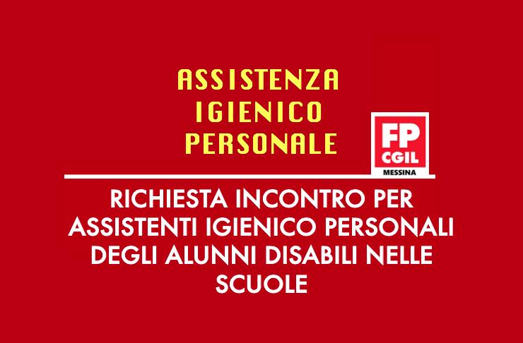 Richiesta incontro per Assistenti Igienico Personali degli alunni disabili nelle scuole