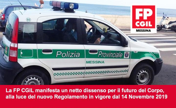 Polizia Metropolitana, la FP CGIL manifesta un netto dissenso per il futuro del Corpo, alla luce del nuovo Regolamento in vigore dal 14 Novembre 2019