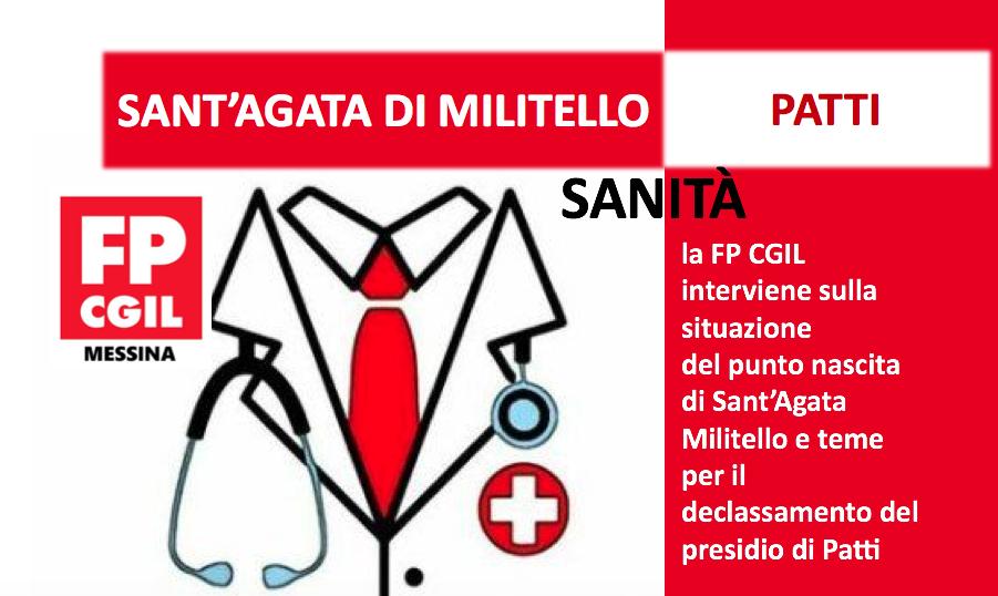 Sanità, la FP CGIL interviene sulla situazione del punto nascita di Sant'Agata Militello e teme per il declassamento del presidio di Patti