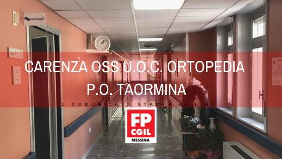 Carenza OSS U.O.C. Ortopedia P.O. Taormina