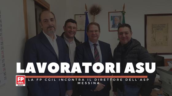 Lavoratori ASU, la FP CGIL incontra il direttore dell'ASP Messina: «Buone possibilità per il passaggio degli operatori dalle cooperativa all'Azienda Sanitaria»