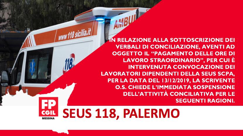 Palermo, Comunicato al Direttore SEUS