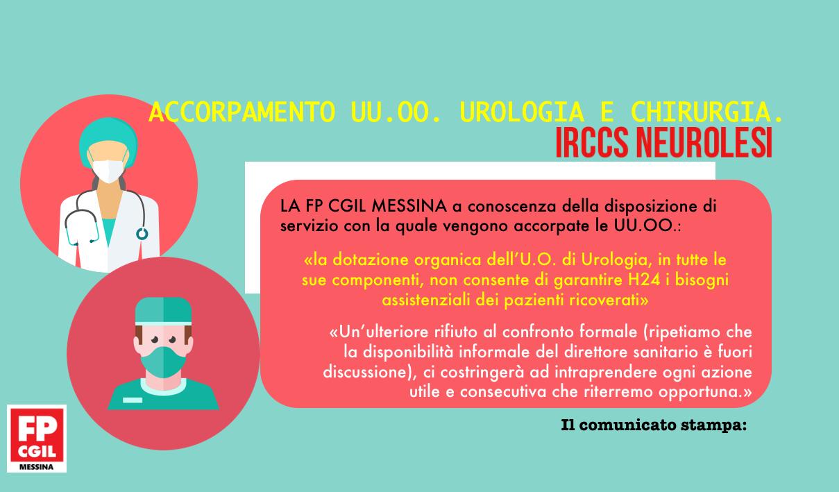 Accorpamento UU.OO. Urologia e Chirurgia.