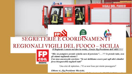 SEGRETERIE E COORDINAMENTI REGIONALI VIGILI DEL FUOCO – SICILIA