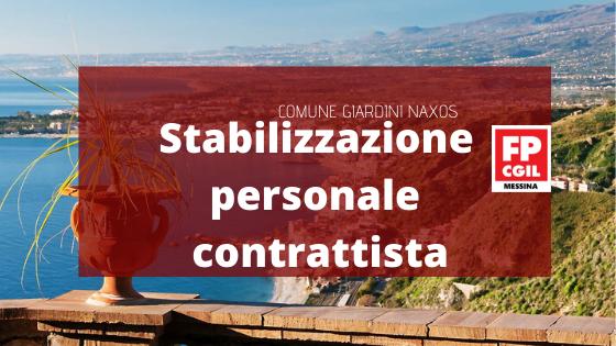 COMUNE GIARDINI NAXOS – Stabilizzazione personale contrattista