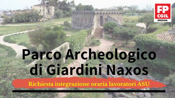 Parco Archeologico di Giardini Naxos – Richiesta integrazione oraria lavoratori ASU