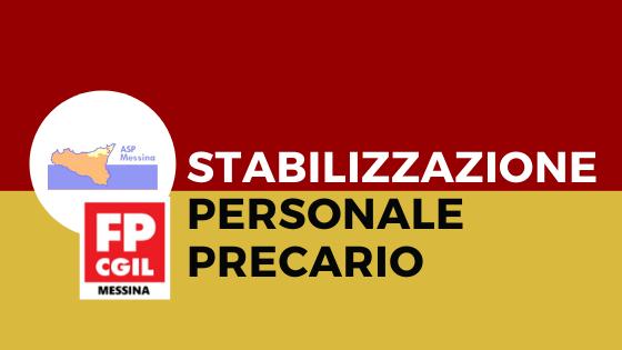 ASP MESSINA, Stabilizzazione personale precario