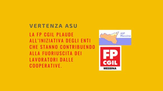 Vertenza ASU, la FP CGIL plaude all'iniziativa degli Enti che stanno contribuendo alla fuoriuscita dei lavoratori dalle cooperative.