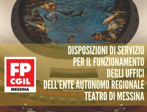 Disposizioni di servizio per il funzionamento degli uffici dell'Ente Autonomo Regionale Teatro di Messina – Sostituzione Dott. Osvaldo Smiroldo