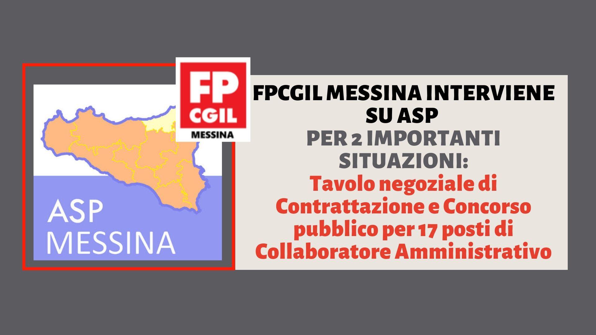 ASP Messina – Sollecito convocazione tavolo sindacale
