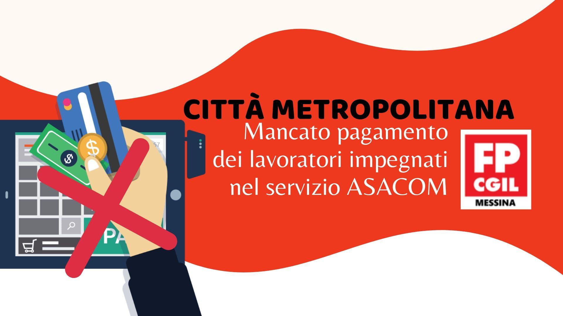 Mancato pagamento dei lavoratori impegnati nel servizio ASACOM Città Metropolitana Messina