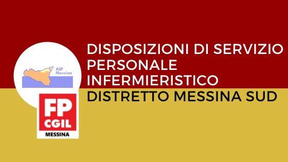 ASP Messina – Disposizioni di servizio personale Infermieristico Distretto Messina Sud