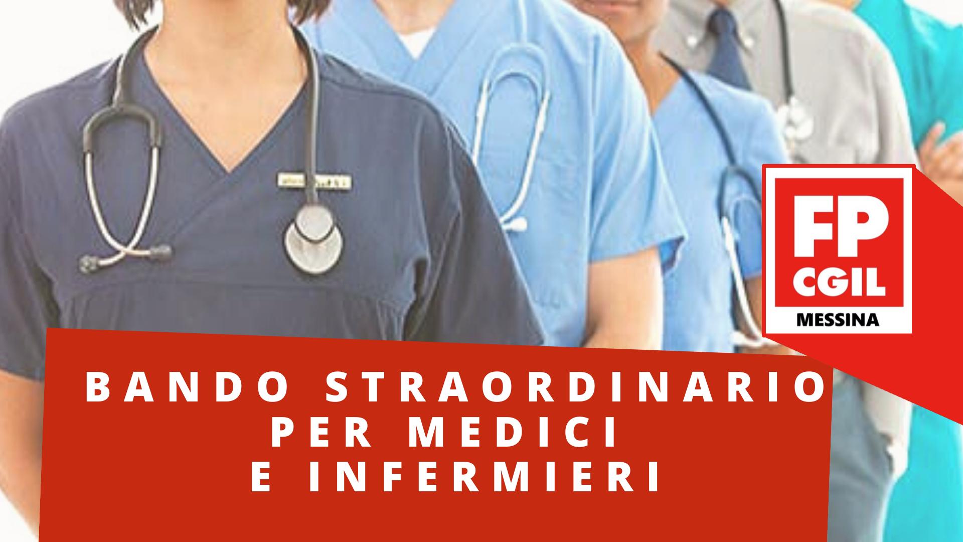 Bando straordinario per Medici ed Infermieri