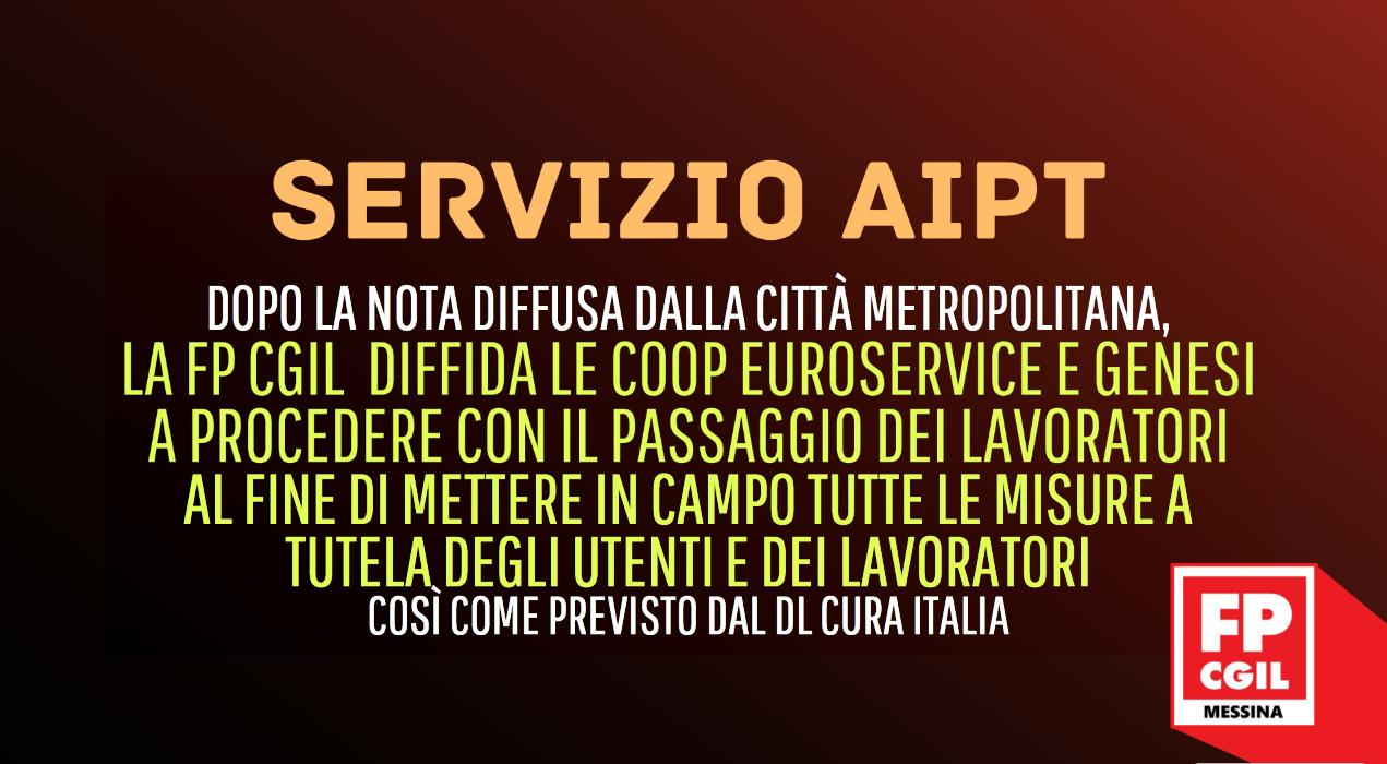 REITERO richiesta passaggio di gara per i lavoratori impiegati nel servizio di AIPT degli alunni disabili frequentanti gli istituti superiori ricadenti nel lotto A (Messina e zona ionica) e lotto B (zona 1 Nebrodi)