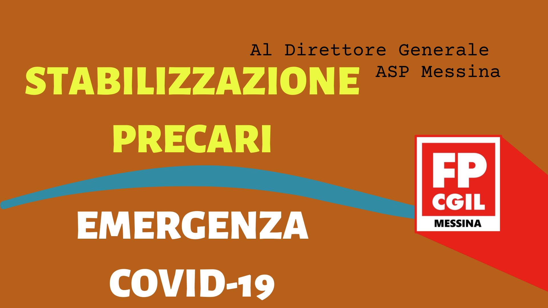 Stabilizzazione precari ed emergenza COVID 19