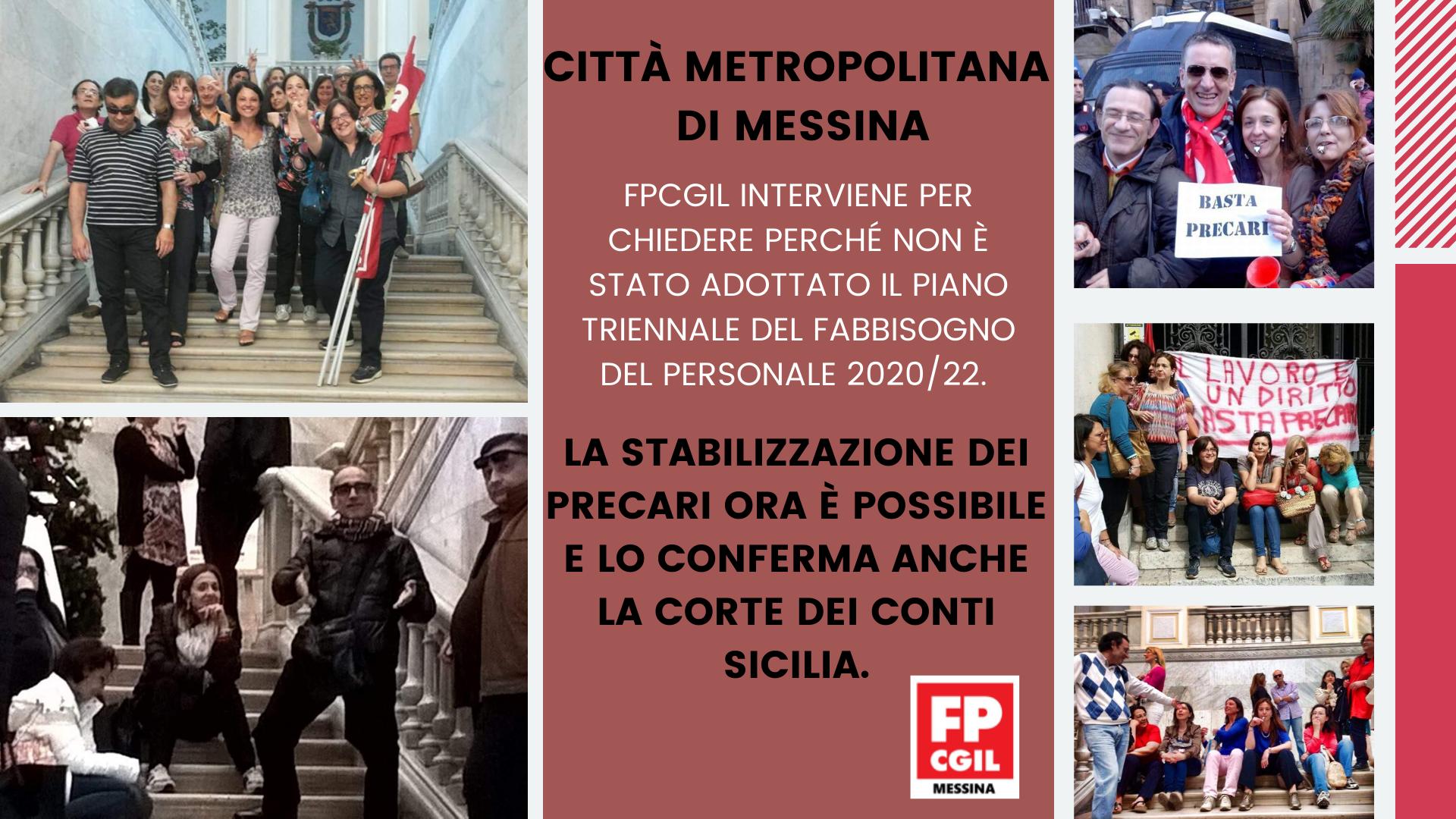Città Metropolitana di Messina, Approvazione Documento Unico di Programmazione 2020/2022 (DUP) e Bilancio di Previsione 2020/2022. Mancata adozione Piano Triennale Fabbisogno Personale 2020/22.
