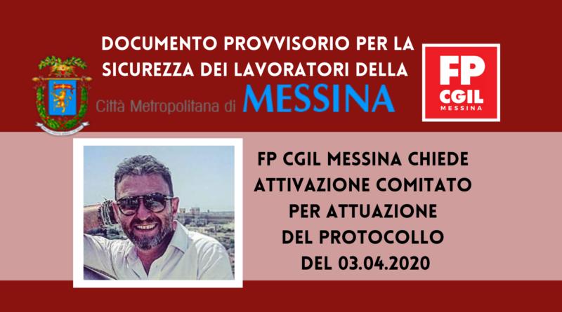 """Conferenza Direzione 06.05.2020. """"Documento provvisorio per la sicurezza dei lavoratori della Città Metropolitana di Messina nel periodo dell'emergenza sanitaria COVID 19"""". Richiesta attivazione Comitato per l'attuazione del Protocollo del 03.04.2020."""