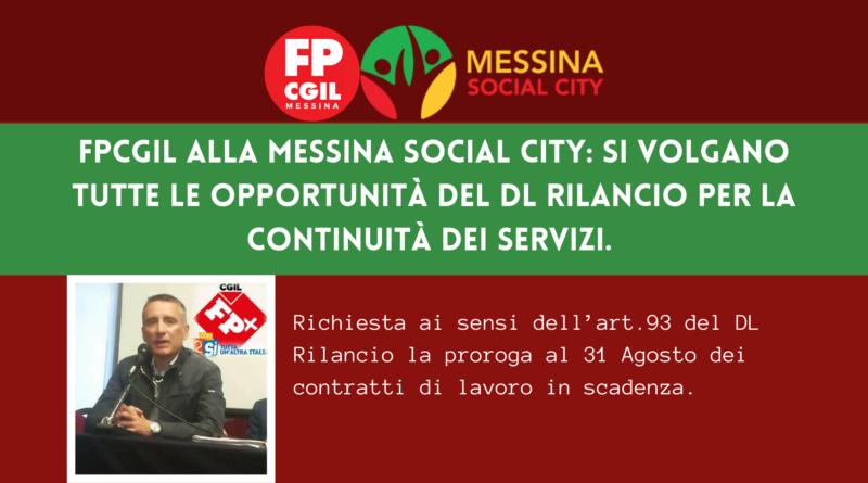 Messina Social City – Richiesta prosecuzione contratti a termine dei lavoratori assunti alla MSC tramite long list, ai sensi dell'art. 93 del DL RILANCIO.