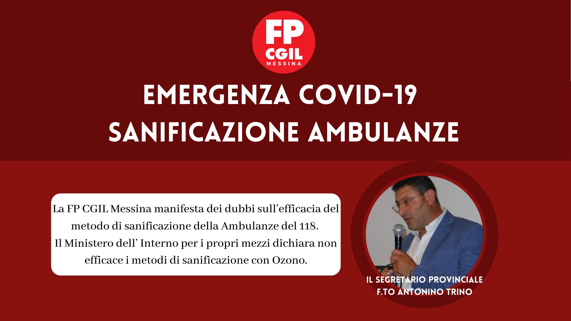 Emergenza COVID-19 Sanificazione Ambulanze