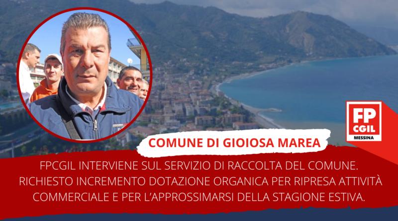 FPCGIL interviene sul servizio di raccolta del Comune di Gioiosa Marea.