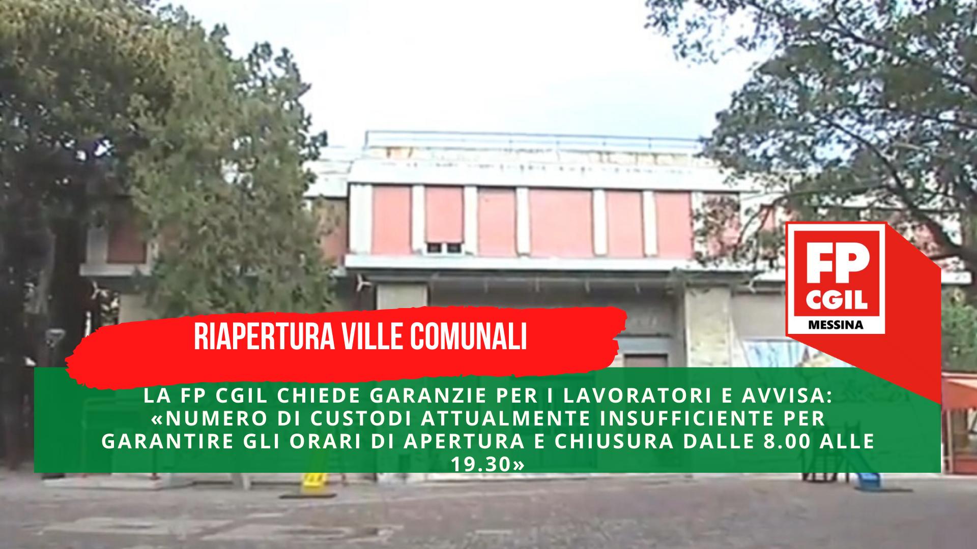 Riapertura ville comunali, la FP CGIL chiede garanzie per i lavoratori e avvisa: «Numero di custodi attualmente insufficiente per garantire gli orari di apertura e chiusura dalle 8.00 alle 19.30»