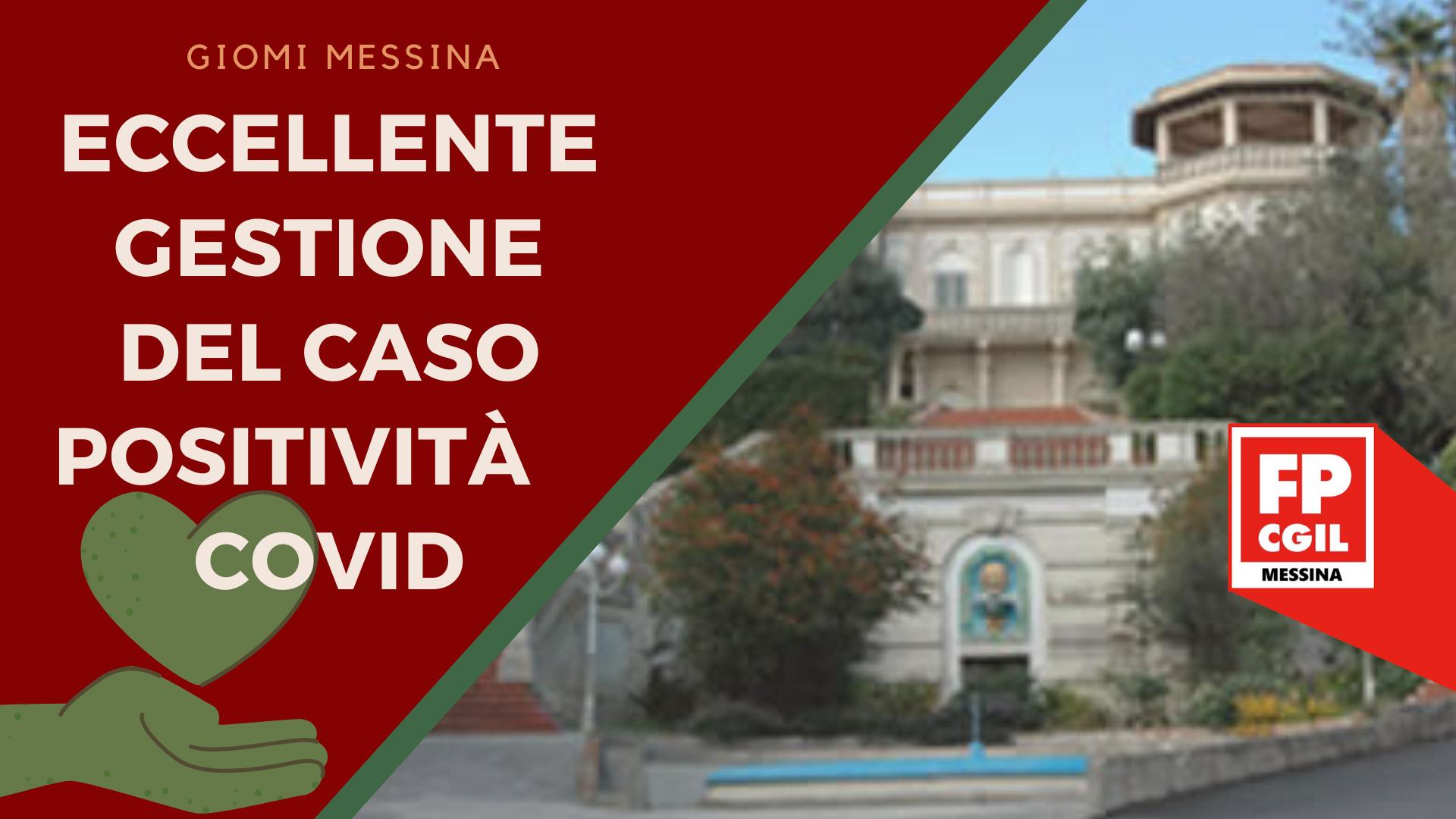 GIOMI Messina 04.05.2020 – eccellente gestione del caso Positività Covid