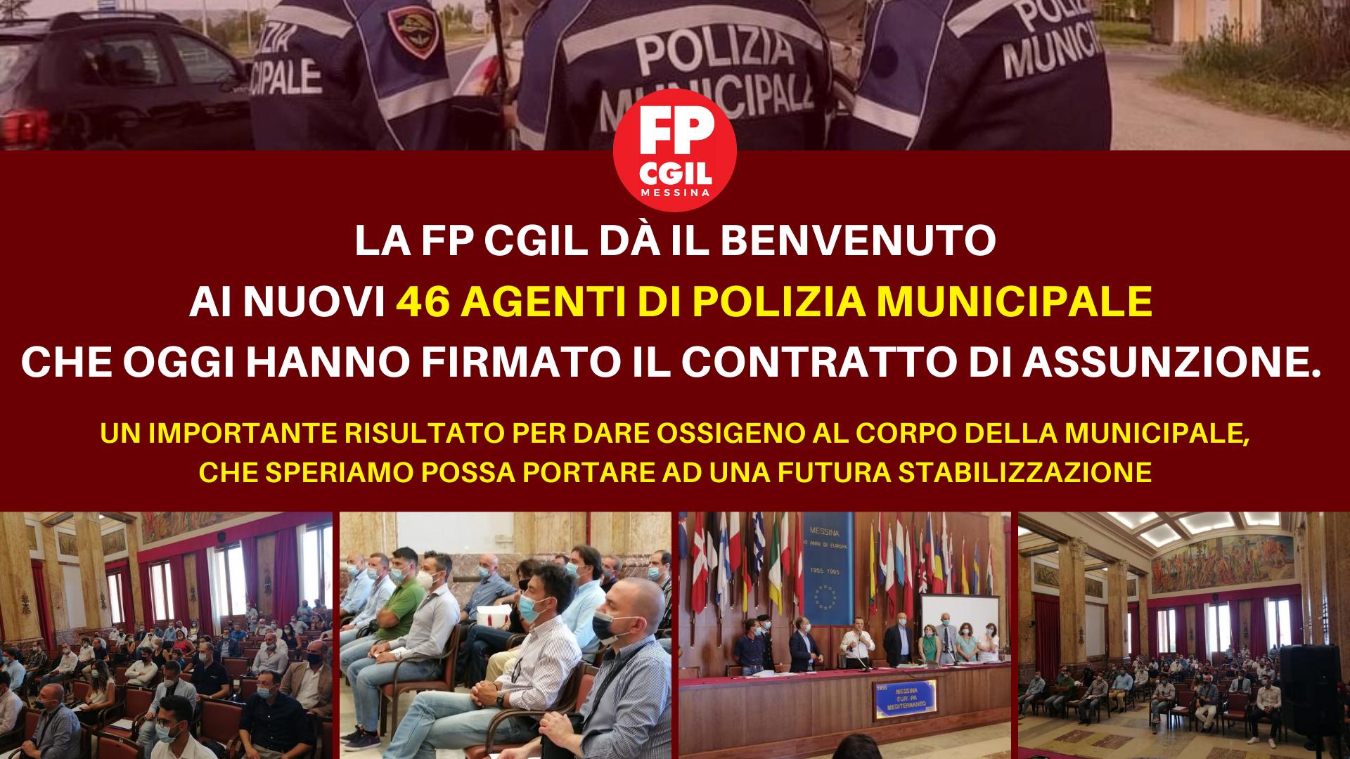 Polizia Municipale, oggi la firma dei nuovi 46 agenti. FP CGIL: «Un grande benvenuto a neo assunti che da lunedì prenderanno ufficialmente iniziando il corso di formazione»