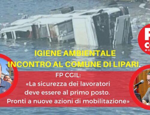 Igiene ambientale, incontro al Comune di Lipari. FP CGIL: «La sicurezza dei lavoratori deve essere al primo posto. Pronti a nuove azioni di mobilitazione»
