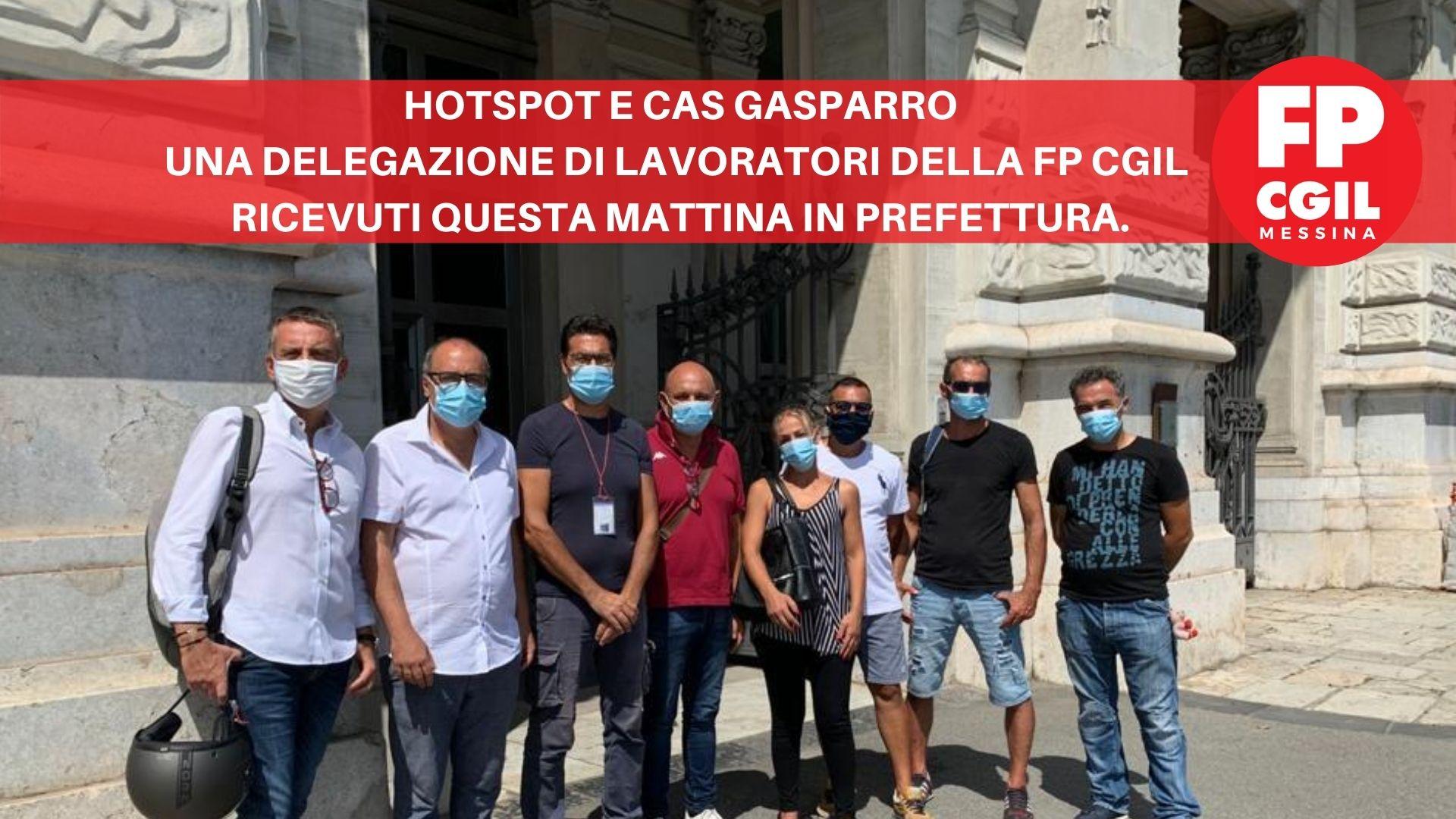 Hotspot e CAS Gasparro, una delegazione di lavoratori della FP CGIL ricevuti questa mattina in Prefettura.