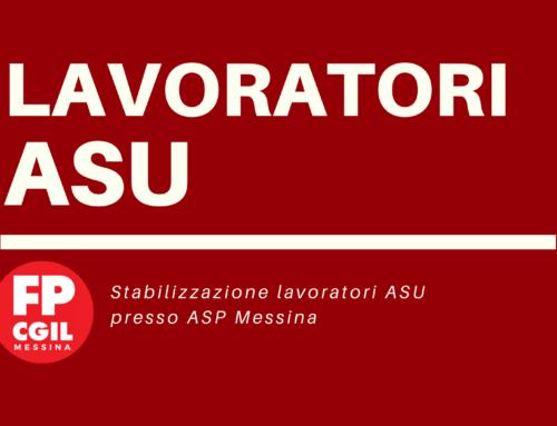 Stabilizzazione lavoratori ASU presso ASP Messina.