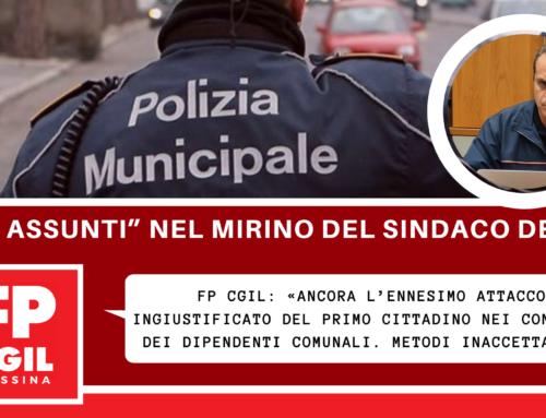 """Polizia Municipale, i """"neo assunti"""" nel mirino del Sindaco De Luca. FP CGIL: «Ancora l'ennesimo attacco ingiustificato del primo cittadino nei confronti dei dipendenti comunali. Metodi inaccettabili»"""