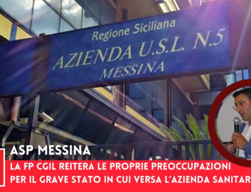ASP Messina, la FP CGIL reitera le proprie preoccupazioni per il gravo stato in cui versa l'Azienda Sanitaria