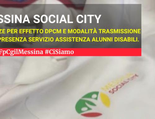 Messina Social City – Assenze per effetto DPCM e modalità trasmissione fogli presenza servizio Assistenza Alunni disabili.